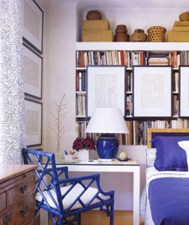 I want this blue chippendale chair! GOR-GEOUS!: