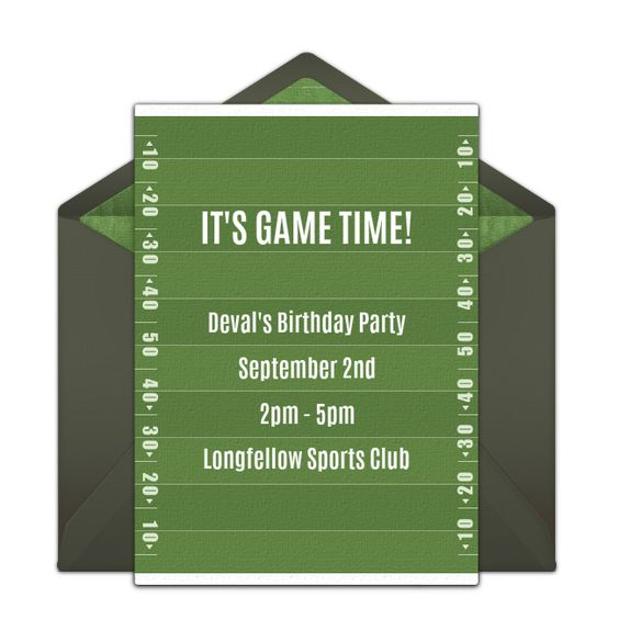 Free Birthday Football Field Invitations – Punchbowl Birthday Invitations
