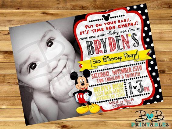 Mickey Mouse Invitation. Mickey Mouse Birthday by BandBPrintables