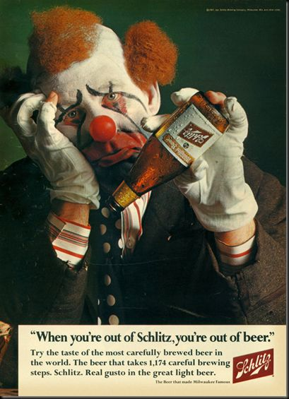 schlitz clown