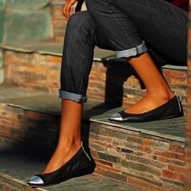 Samantha Flats - Black/Silver - by Yosi Samra I WANT THESE SOOOO BAD!!!
