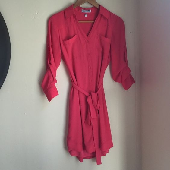 The Portofino Shirt Dress Pink, classy, shirt dress. Express Dresses ...