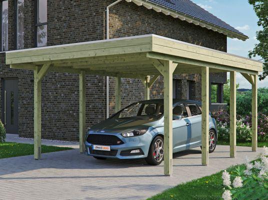 Carport En Bois Friesland 397 X 555 En 2020 Carport Bois Ports De Voiture Bois