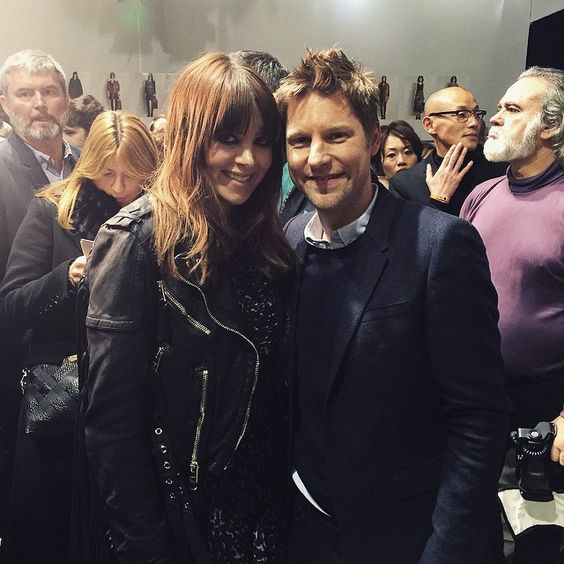 Backstage at the #Burberry A/W15 show, Christopher Bailey with performer @ClareMaguire #LFW
