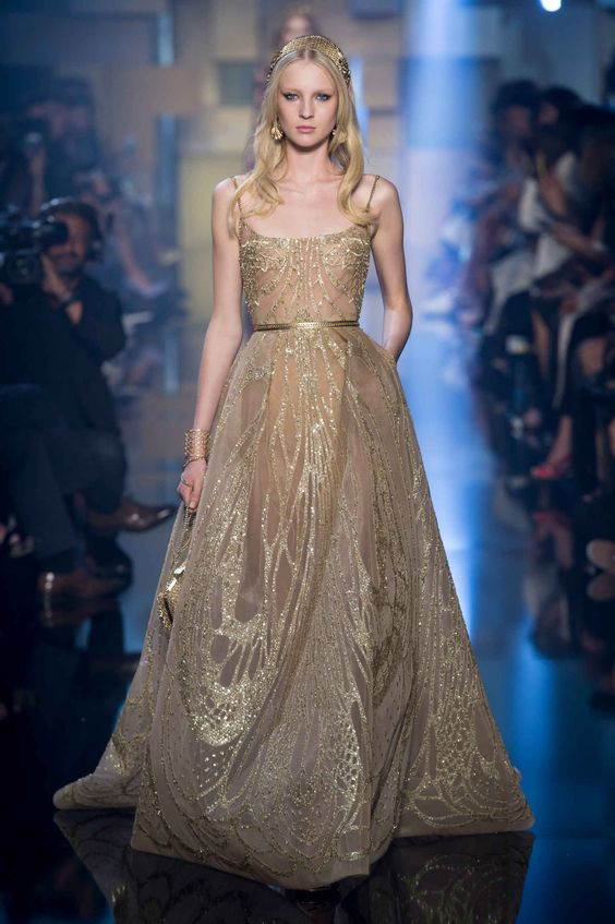 Elie Saab Showed Pretty Gowns for Moody Princesses at Couture - Fashionista