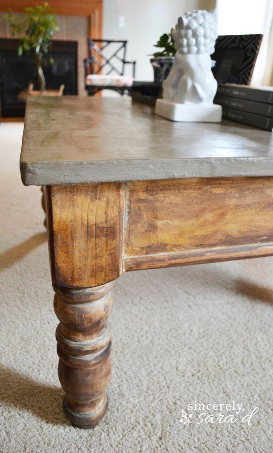 DIY Concrete Table top - requires no special tools!