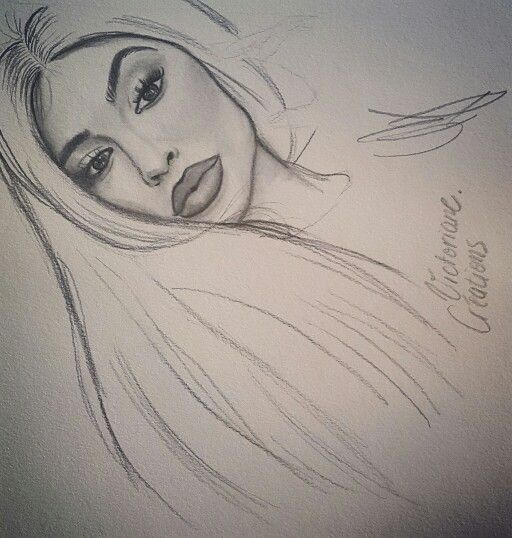 Kylie jenner style drawing dessin r alisme drawings for Simple black and white drawing ideas