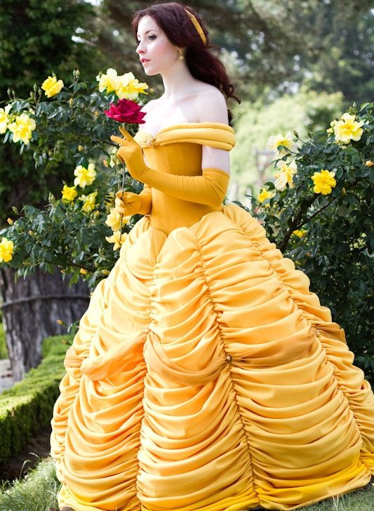 how to make a princess belle dress