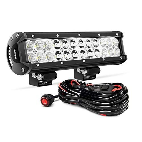 Nilight Zh007 Led Light Bar 12 Inch 72w Spot Flood Combo With Off Road Wiring Harness 2 Years Warranty With Images Led Light Bars
