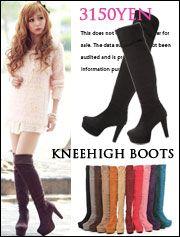 boots~~~ 10cmヒールニーハイブーツ