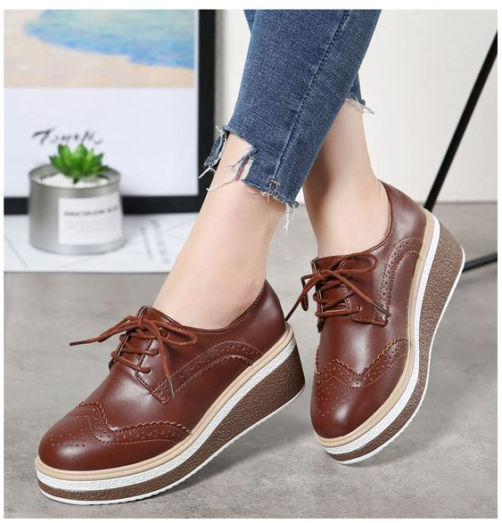 Modest Casual Platform Shoes
