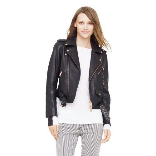 Black Leather Jacket Gold Hardware - My Jacket