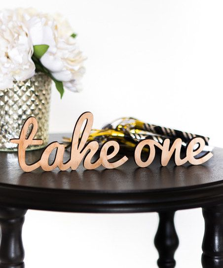 Z Create Design Laser-Cut Take One Block | zulily