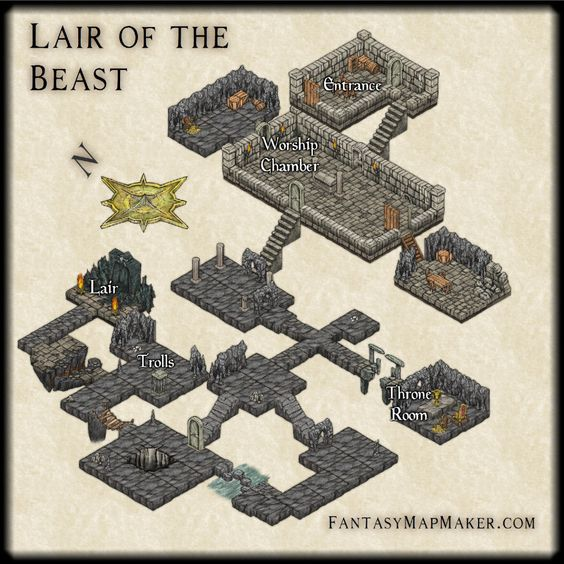 Isometric Dungeon, Lair of the Beast