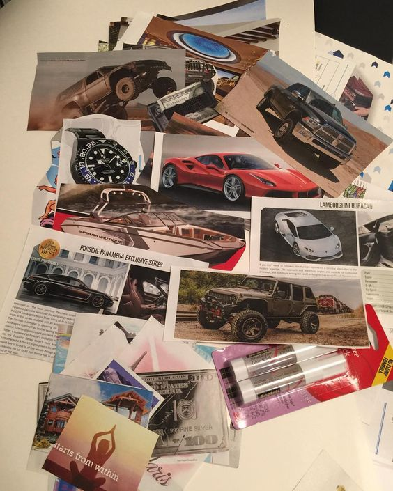 We can dictate our future by convincing the brain to obtain what we seek. I had the #Dimewife on my original dream board so I know it works! Soooo this is my super selfish motorsports version. What dream board would be complete without a #Lamborghini and a #Ferrari and an #AirNautique and a #Truggy and a #Panamera  #DontTryDecide #ThisIsEarned #Dreamboard #Autoaddict