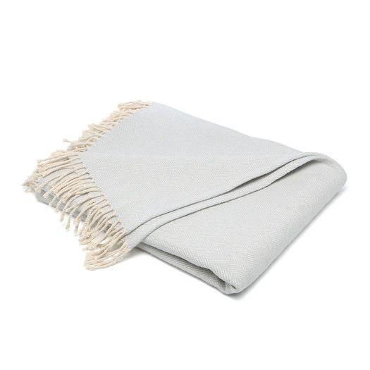 Throw Blanket | OPTION 3 -  Monochromatic Abstract | Purchase Blue ////  SFERRA Celine Throw Blanket | AllModern