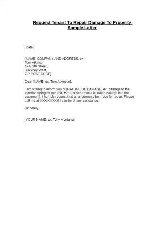 Landlord Letter To Tenant Regarding Repairs Check More At Https Nationalgriefawarenessday Com 47006 Landlord Letter To Tenant Regarding Repairs