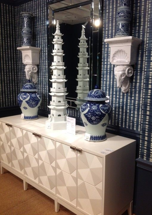 Pagoda and Blue & white - Eastern Influences