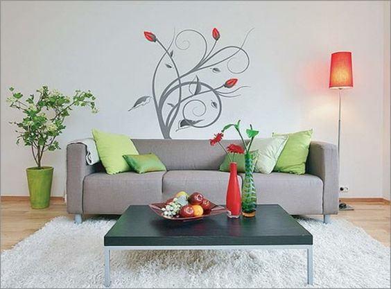 super interessante moderne wand deko ideen fürs wohnzimmer graues, Mobel ideea