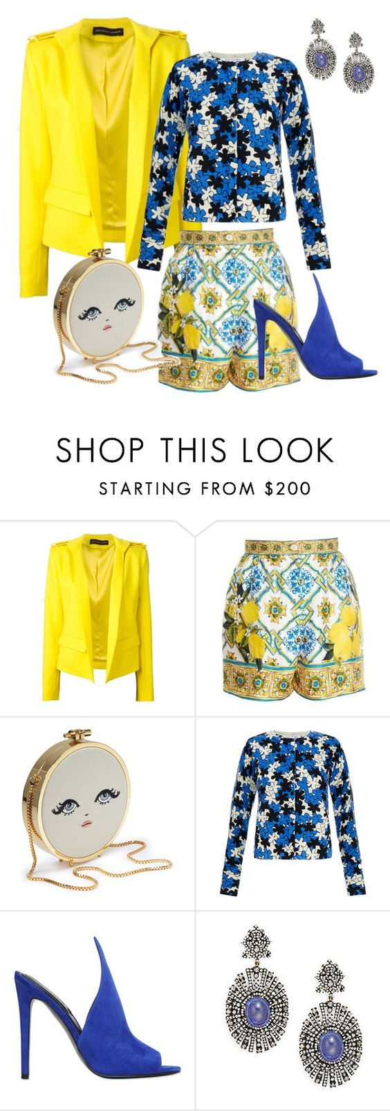 """""""Mixed Fancy"""" by collinsjclaire ❤ liked on Polyvore featuring Alexandre Vauthier, Dolce&Gabbana, Diane Von Furstenberg, Kendall + Kylie and Bavna"""