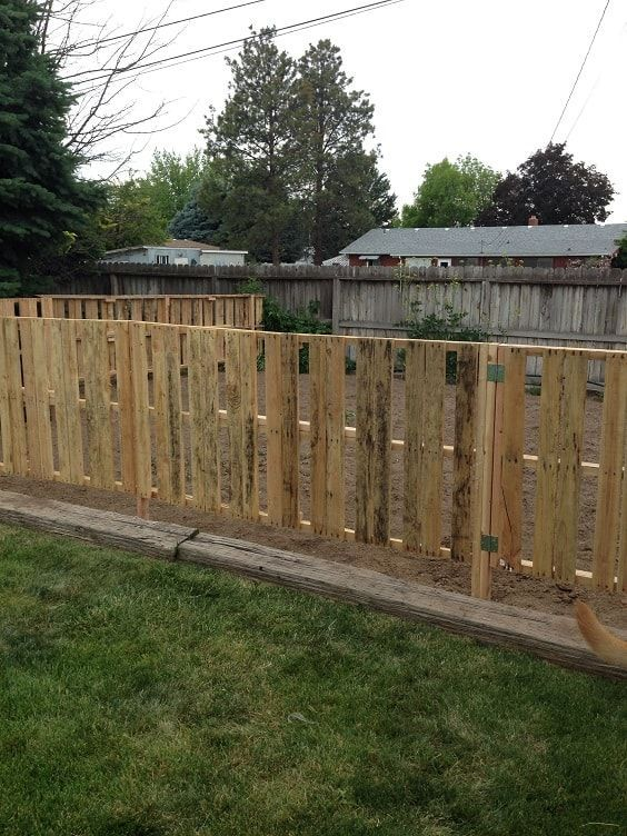 30 Most Inspiring Diy Pallet Garden Fence Ideas To