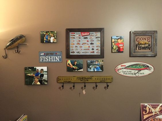 Wall of Fame Fishing  Boy's Room