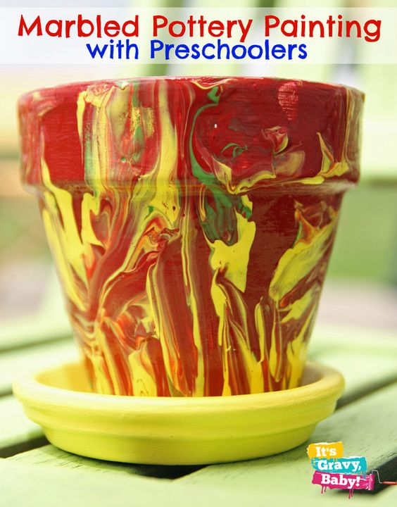 Pottery Painting fun with kids