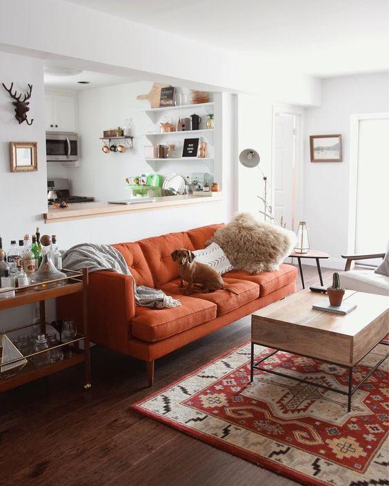 Cách bố trí phòng khách hợp phong thủy, mua sofa da ở đâu