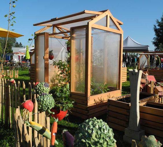 Tomatenhaus als Kleingewächshaus