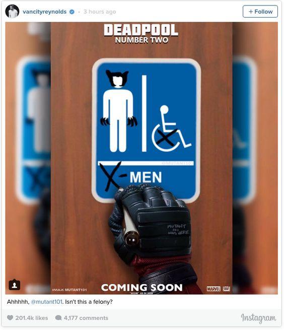Ryan Reynolds Posts Deadpool Number Two Teaser