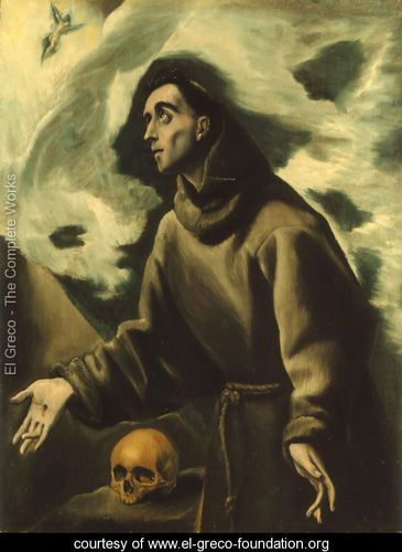 Saint Francis Receiving the Stigmata 1585-90 - El Greco (Domenikos Theotokopoulos) -