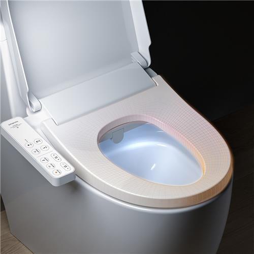 Xiaomi Mijia Smart Toilet Seat Uv Sterilization Ipx4 Waterproof Electric Bidet Cover Dual Self Cleaning Nozzle Intelligent Toilet Lid White Smart Toilet Toilet Seat Electronic Bidet