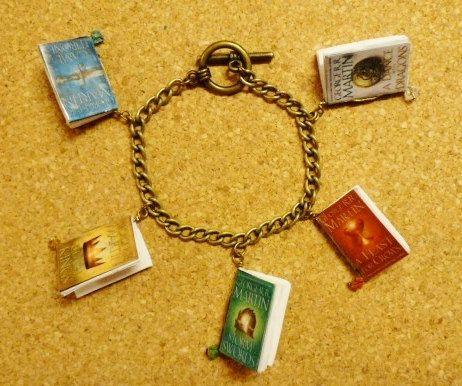 GOT book charm bracelet