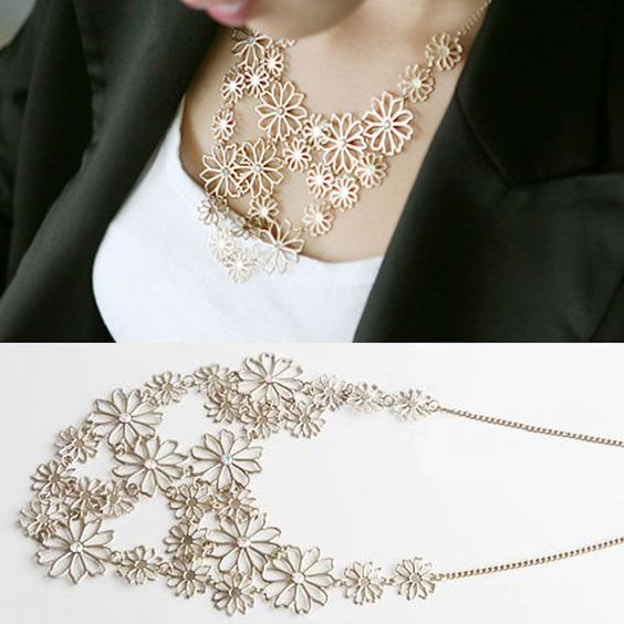 Girls Women Fashion Chain Jewelry Gold Flower Choker Pendant Statement Necklace #Fashion  http://www.ebay.com/itm/Girls-Women-Fashion-Chain-Jewelry-Gold-Flower-Choker-Pendant-Statement-Necklace-/261689780880?pt=LH_DefaultDomain_0&hash=item3ceded2a90
