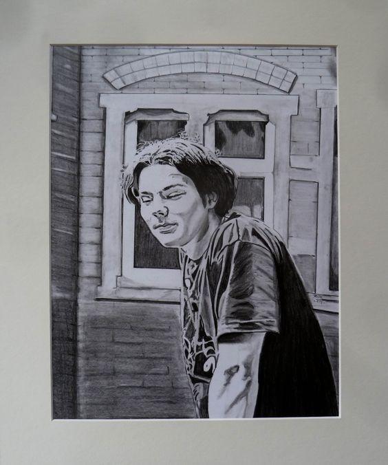Herr John. (2015) Pencil on Canson cardboard. 12'' x 16'' / 30 x 40 cm.