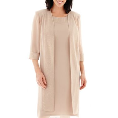 Dana Kay Embellished Trim Duster Jacket Dress found at @JCPenney