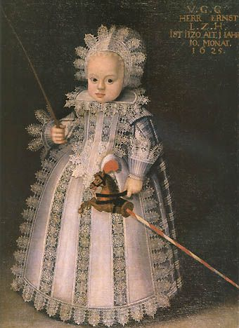 German school, Prince Ernst of Hesse (1623-1693), aged one year and ten months 1625