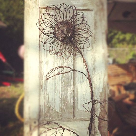Wire flowers barbed and on pinterest