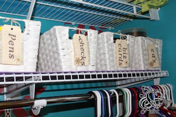 label baskets