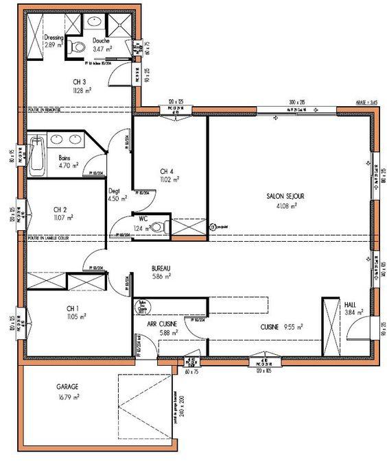 Maison design 123 m 4 chambres projets essayer for Maison container loire atlantique