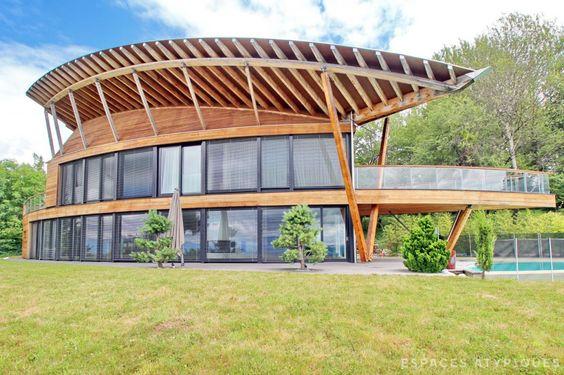Lucinges : Maison d'architecte aux allures de bateau. - Agence EA Annecy