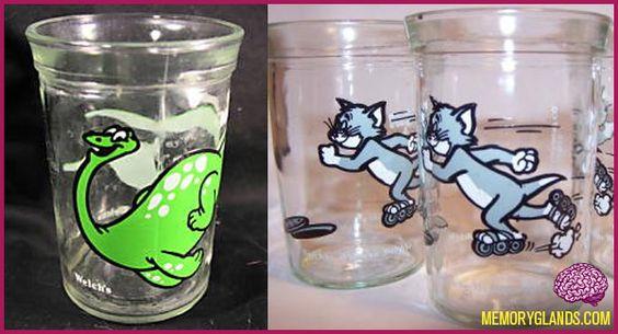 Welch's glass jelly jars.