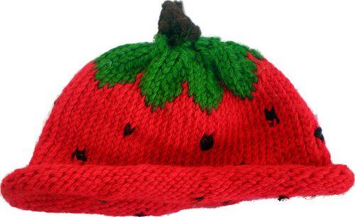 Cutest little strawberry hats!    http://grosgrainfabulous.blogspot.com.au/2008/11/strawberry-knit-winter-baby-hat.html  strawberry hat detail by grosgrainfabulous, via Flickr