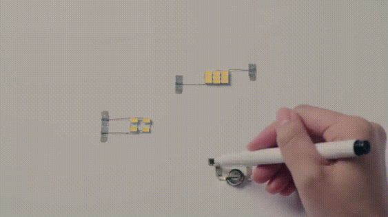 This pen allows the user to draw lines that can connect circuits together