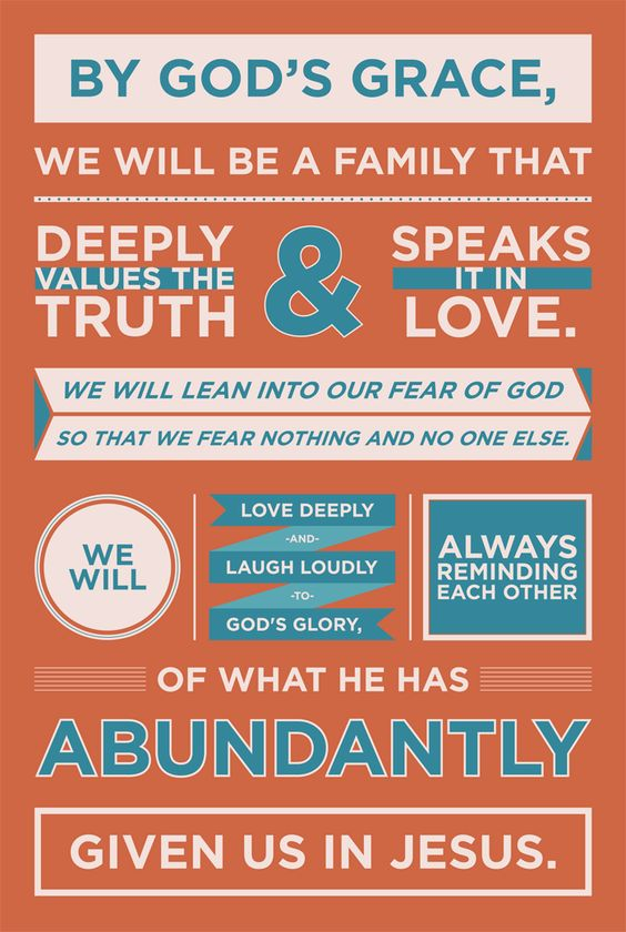 beautiful family mission statement: