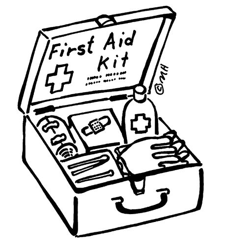 Coloring Page First Aid Kit Kid S Safety Pinterest Aid Coloring Pages