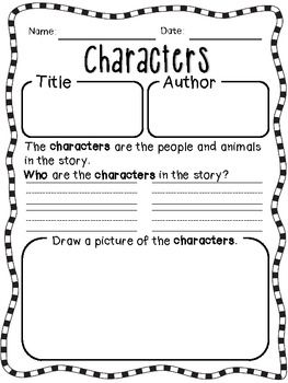 Worksheet Elements Of A Story Worksheet story elements worksheets and daily 5 reading on pinterest