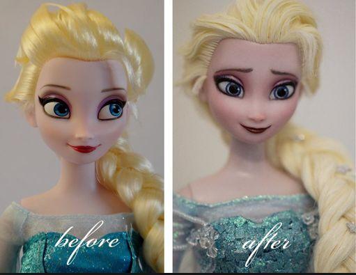 Elsa doll repaint