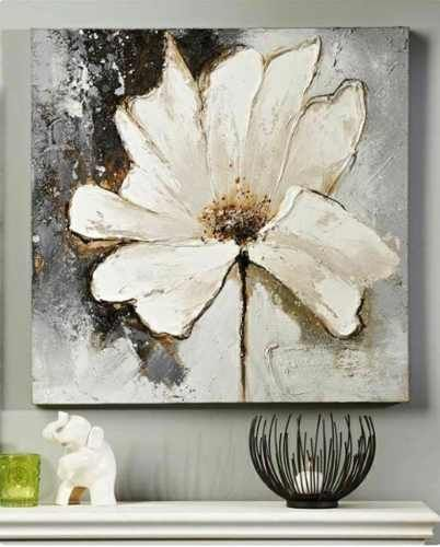cuadros modernos x abstractos flores tripticos