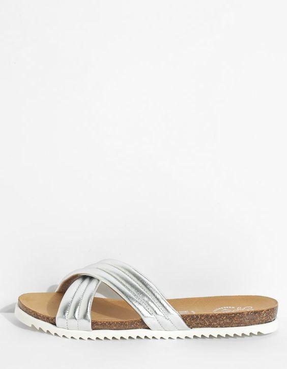 Dusk Sandal in Silver from Seychelles